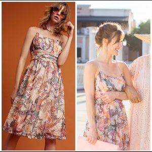 Nwt Anthropolgoie  Mackenzie Floral Dress